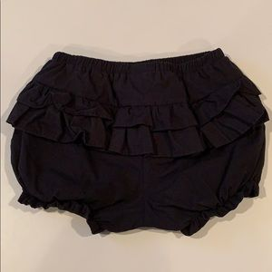 Black Ruffled Shorts/Diaper Cover